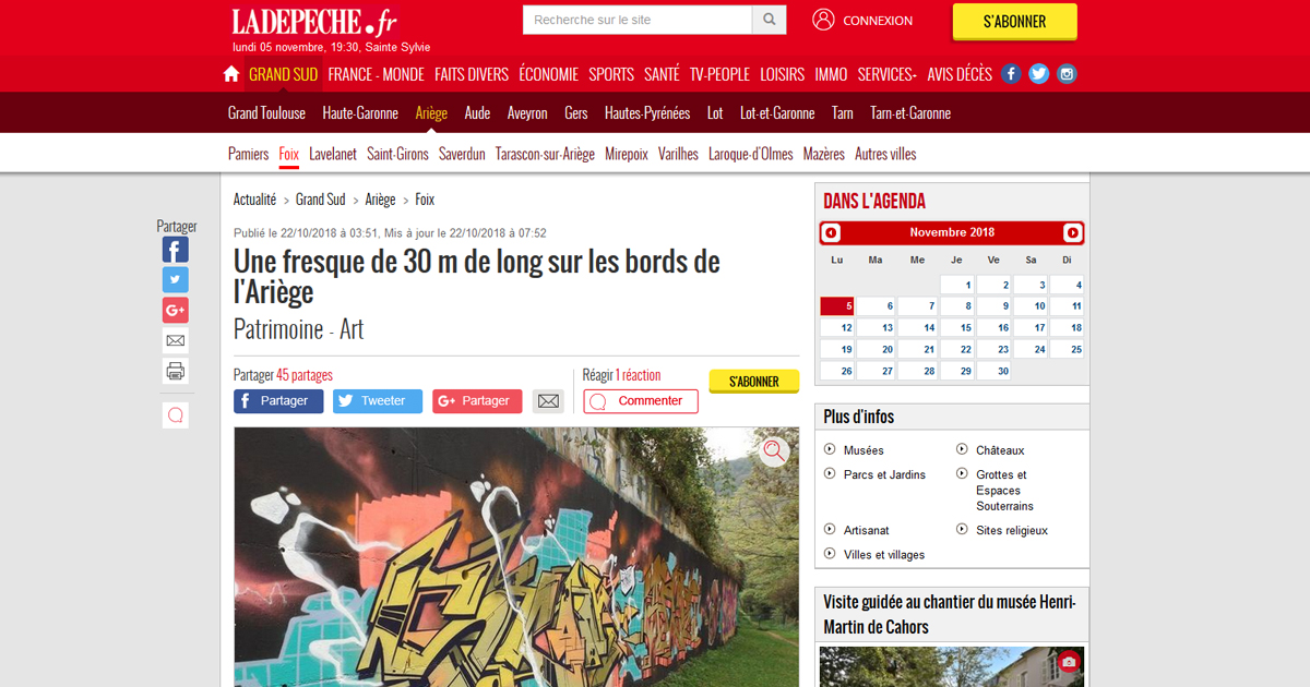 Article graffiti foix